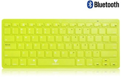 Callmate Bluetooth Keyboard with B.T USB Dongle - Green Bluetooth Laptop Keyboard
