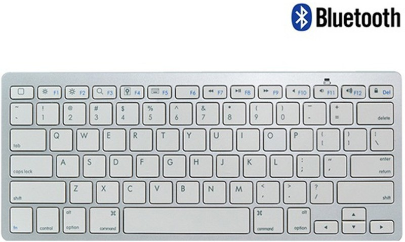 Callmate Bluetooth Keyboard with B.T USB Dongle - Silver Bluetooth Laptop Keyboard(Silver)