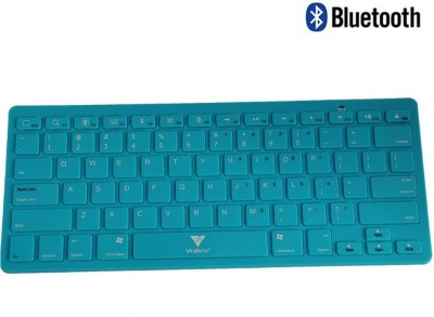 Callmate Bluetooth Keyboard with B.T USB Dongle - Sky Blue Bluetooth Laptop Keyboard