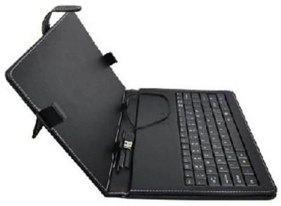 Wonder World ™ 180° Angle Protective ™ case with any-angle stand Wired USB Tablet Keyboard at flipkart