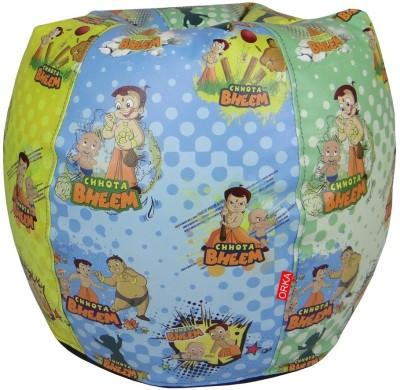 ORKA Chhota Bheem Filled with Beans Leatherette S Teardrop Kid Bean Bag