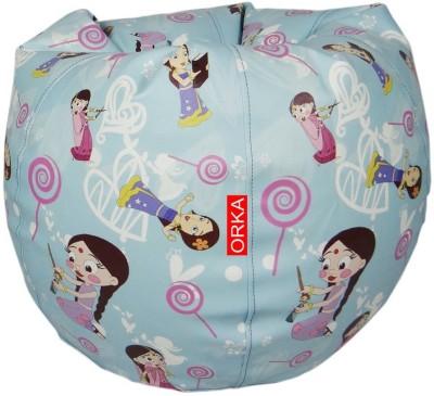 ORKA Chutki Leatherette S Teardrop Kid Bean Bag