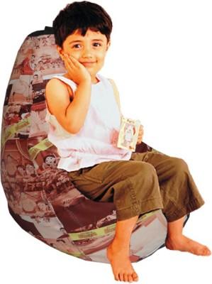 ORKA Chhota Bheem Bean Bag Leatherette S Teardrop Kid Bean Bag