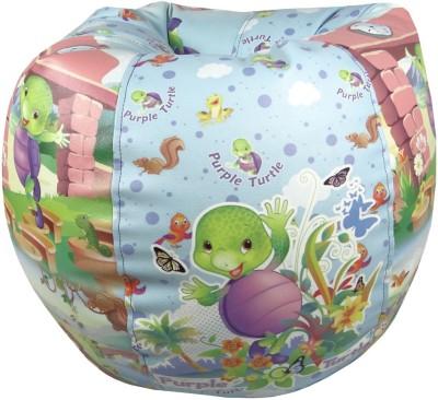 ORKA Purple Turtle Leatherette S Teardrop Kid Bean Bag