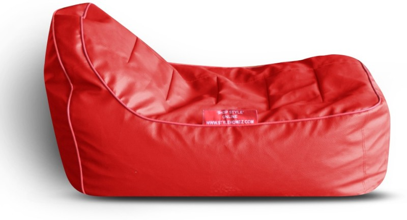 Style Homez Video Rocker PU Leatherette L Lounger Kid Bean Bag(Bead Filling, Color - Red)