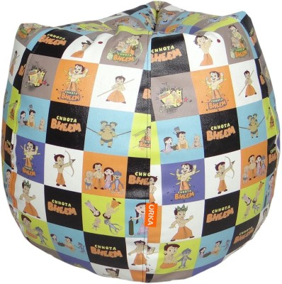 ORKA Chhota Bheem Leatherette S Teardrop Kid Bean Bag
