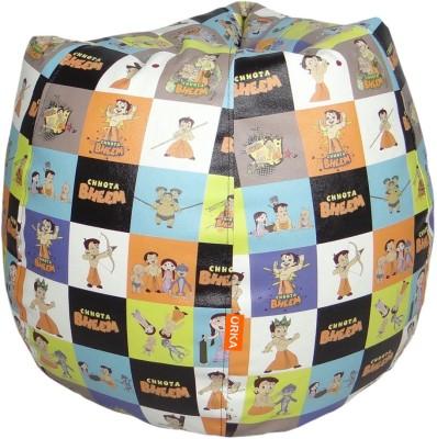 ORKA Chhota Bheem Leatherette S Teardrop Kid Bean Bag(Bead Filling, Color - Multicolor)