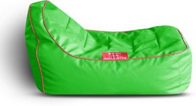 Style Homez Video Rocker PU Leatherette L Lounger Kid Bean Bag(Bead Filling, Color - Green)