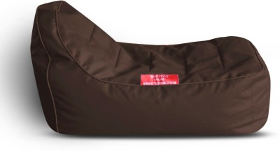 Style Homez Video Rocker PU Leatherette L Lounger Kid Bean Bag(Bead Filling, Color - Brown)