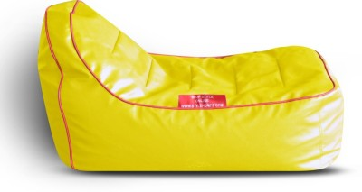 Style Homez Video Rocker PU Leatherette L Lounger Kid Bean Bag(Bead Filling, Color - Yellow)