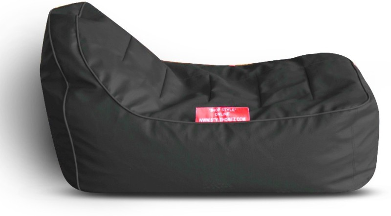 Style Homez Video Rocker PU Leatherette L Lounger Kid Bean Bag(Bead Filling, Color - Black)