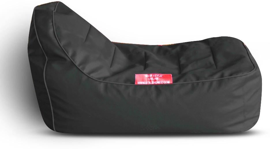 View Style Homez Video Rocker PU Leatherette L Lounger Kid Bean Bag(Bead Filling, Color - Black) Price Online(Style Homez)