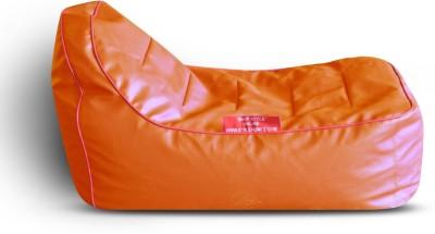 Style Homez Video Rocker PU Leatherette L Lounger Kid Bean Bag(Bead Filling, Color - Orange)