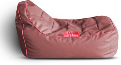 Style Homez Video Rocker PU Leatherette L Lounger Kid Bean Bag(Bead Filling, Color - Maroon)