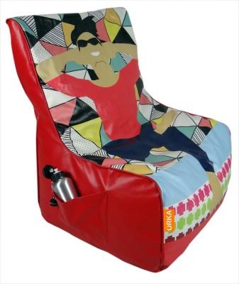 ORKA Printed Leatherette XXXL Chair Kid Bean Bag