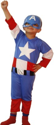 Fancydresswale Captain America Kids Costume Wear