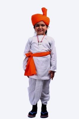 SBD Maharashtraian Boy indian folk fancy dress costume for kids Kids Costume Wear