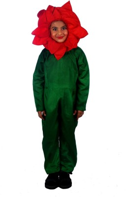SBD Red Rose Flower Fancy dress costume for kids Kids Costume Wear