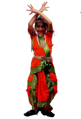SBD Indian folk dance Traditional Bharatnatyam costume for kids Kids Costume Wear