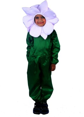 SBD White Lily Flower Fancy dress costume for kids Kids Costume Wear