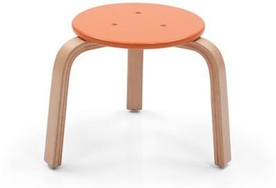 OCradle Solid Wood Stool(Finish Color - Orange)