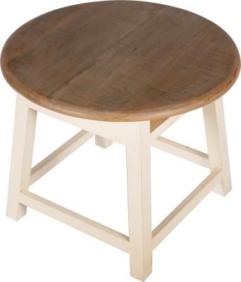 Hastkala Solid Wood Stool(Finish Color - White)