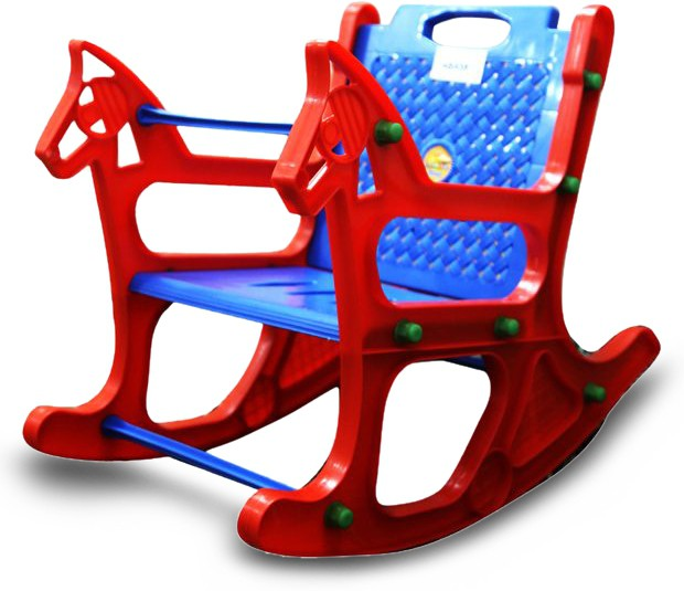 View Abasr Plastic Rocking Chair(Finish Color - RED) Furniture (Abasr)