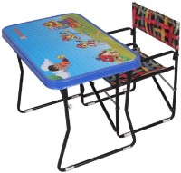 Variety Gift Centre Metal Desk Chair(Finish Color - Blue)