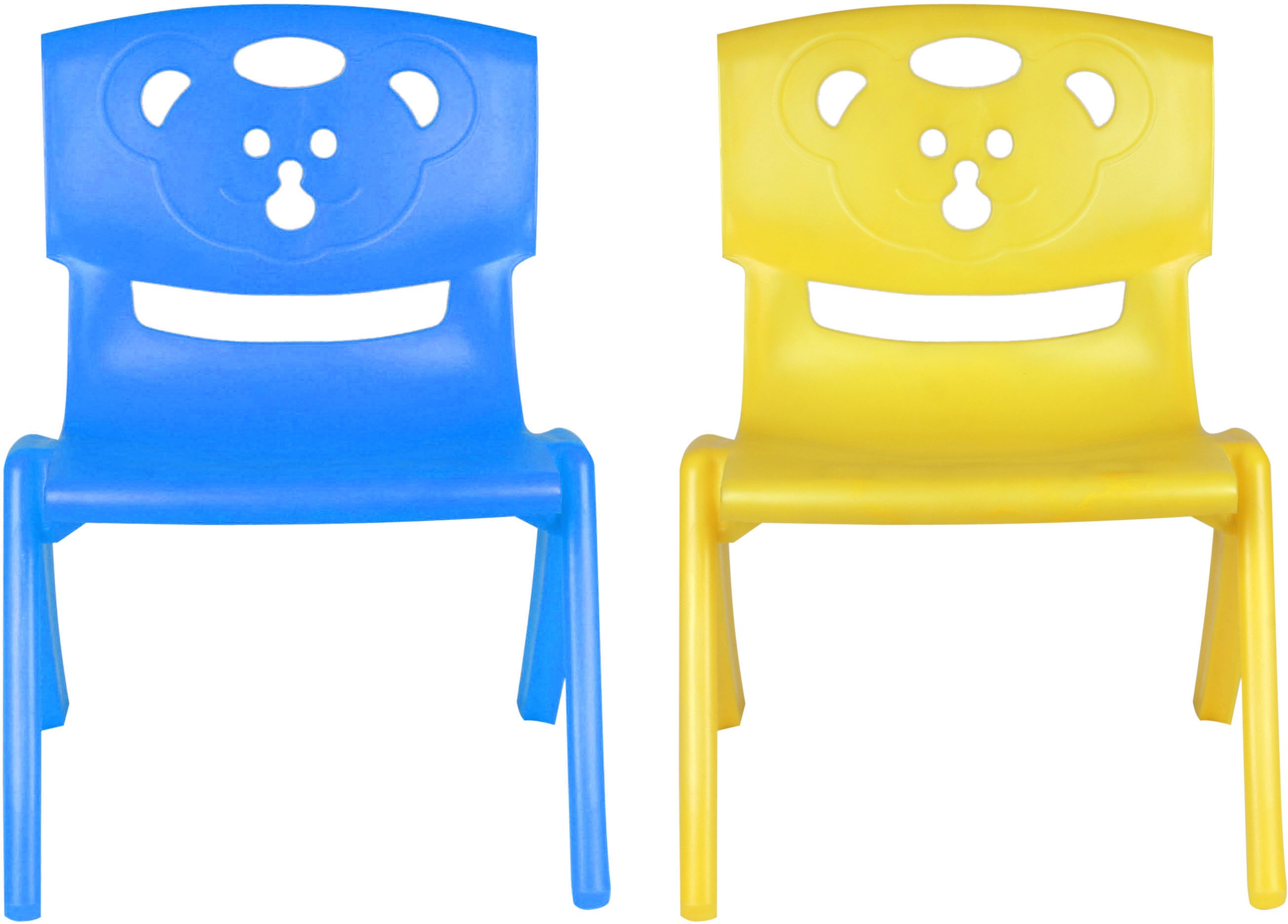 View Sunbaby MAGIC BEAR CHAIR Plastic Chair(Finish Color - BLUE, YELLOW) Furniture (Sunbaby)