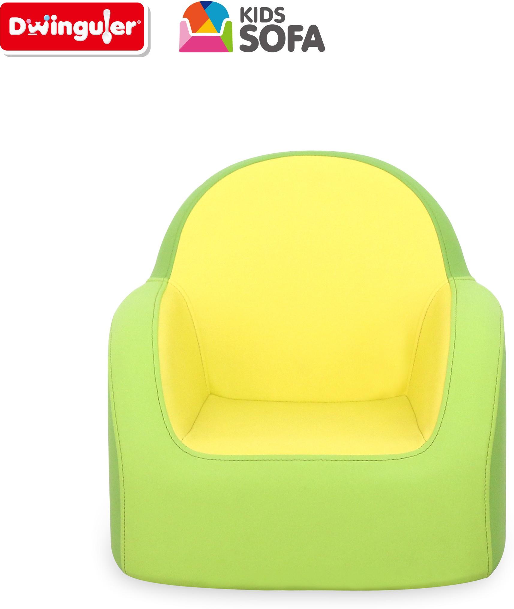 View Dwinguler Kids Sofa - Lime Green Leatherette Sofa(Finish Color - Lime Green) Furniture (Dwinguler)
