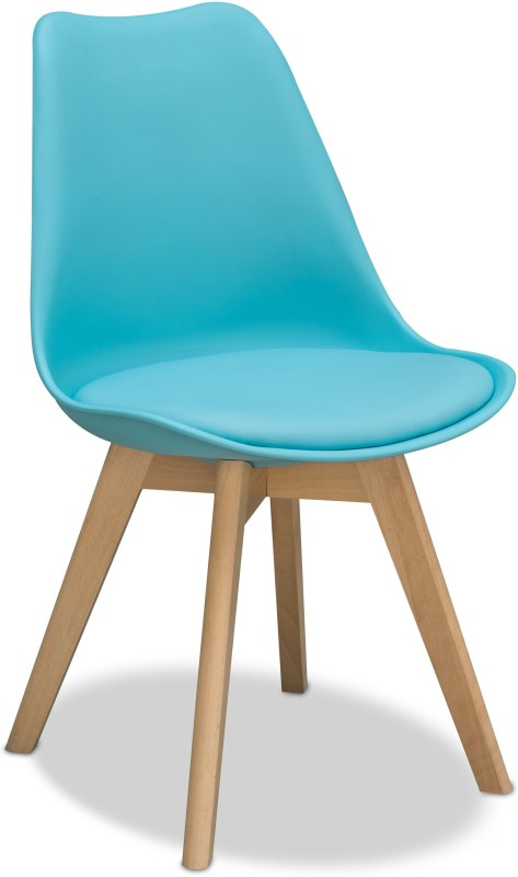 Alex Daisy Nordic Solid Wood Chair(Finish Color - Blue)