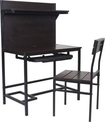 FurnitureKraft Metal Desk Chair(Finish Color - Black)