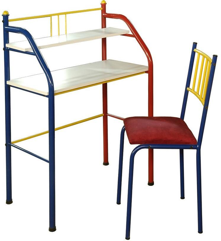 View FurnitureKraft Paris Metal Desk Chair(Finish Color - Multicolor) Price Online(FurnitureKraft)