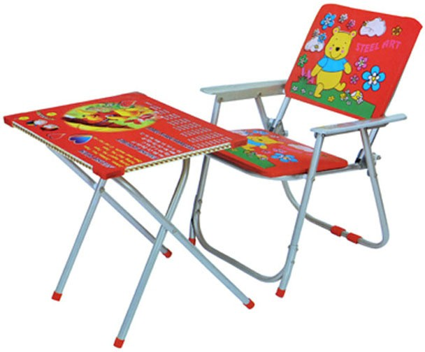 View Mittal Metal Chair(Finish Color - Red) Furniture (Mittal)