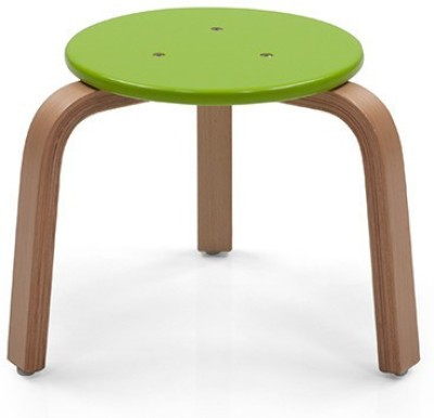 OCradle Solid Wood Stool(Finish Color - Green)
