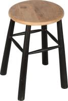 Hastkala Solid Wood Stool(Finish Color - Black)