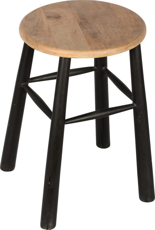 Hastkala Solid Wood Stool(Finish Color - Black)