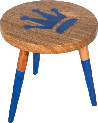 Hastkala Solid Wood Stool(Finish Color - Brown)