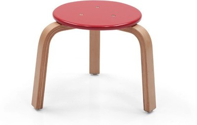 OCradle Solid Wood Stool(Finish Color - Red)