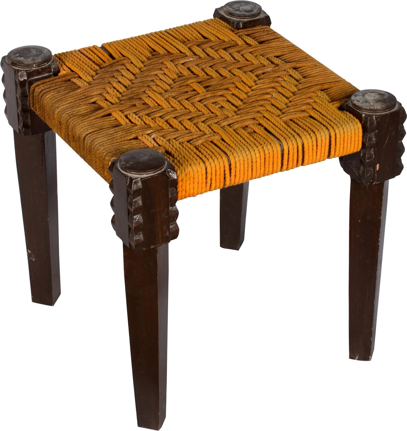 View Hastkala Solid Wood Stool(Finish Color - Black) Furniture (Hastkala)