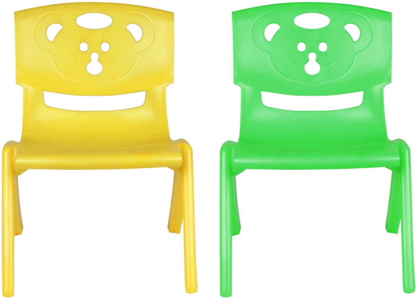 View Sunbaby MAGIC BEAR CHAIR Plastic Chair(Finish Color - YELLOW, GREEN) Furniture (Sunbaby)