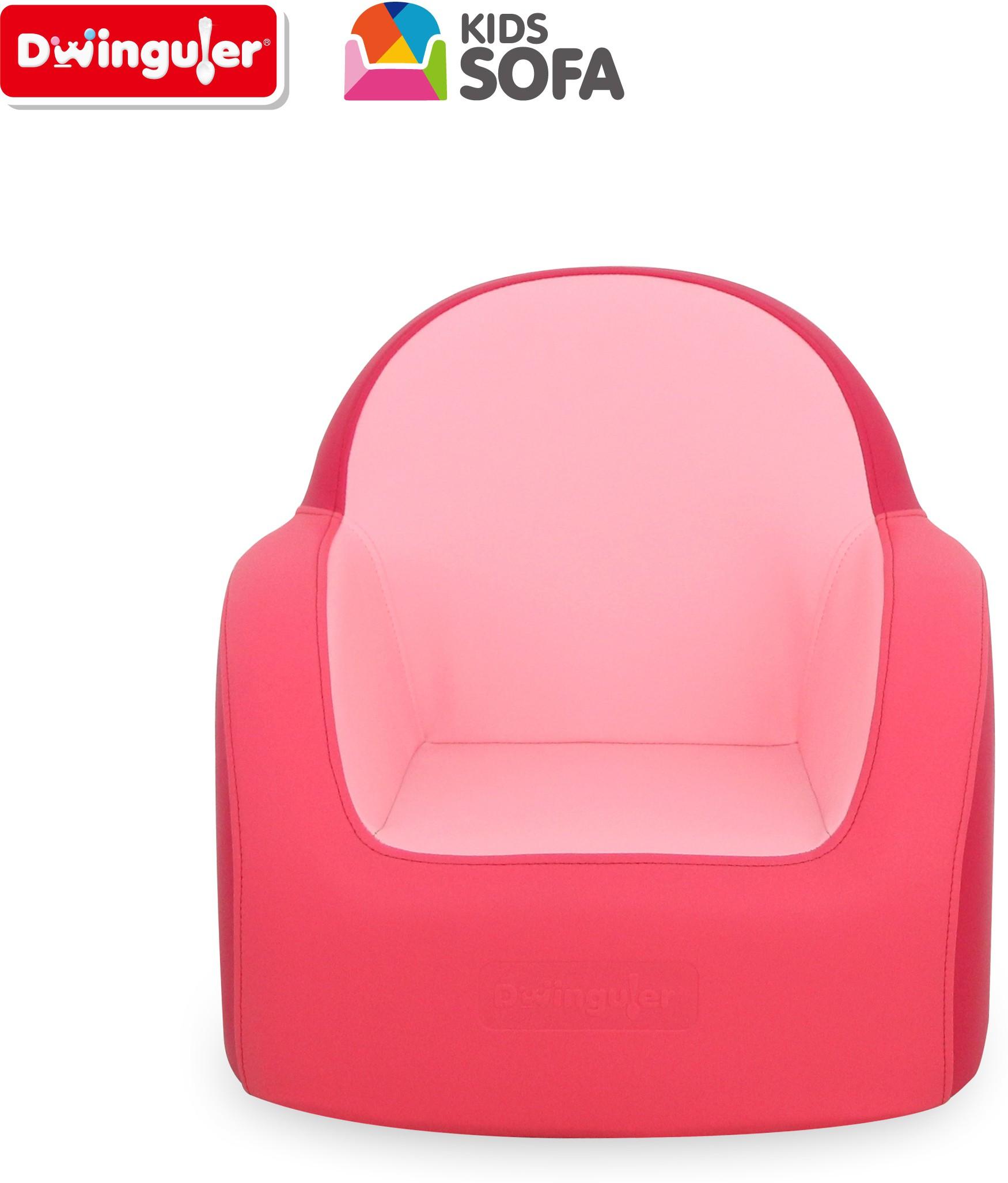 View Dwinguler Stanard Pink Kids Sofa Leatherette Sofa(Finish Color - Cherry Pink) Furniture (Dwinguler)
