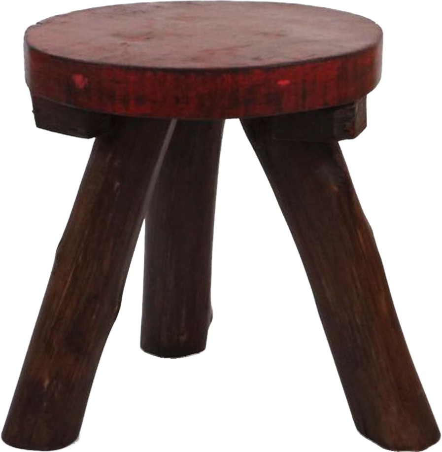 View Artlivo Solid Wood Stool(Finish Color - Red, Brown) Furniture (Artlivo)