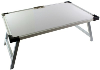 Chrome Metal Study Table(Finish Color - White)