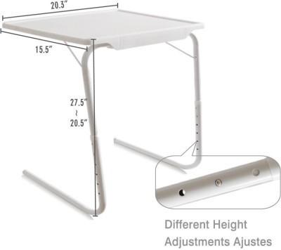 Tuzech White Adjustable Folding Laptop Plastic Study Table(Finish Color - White)