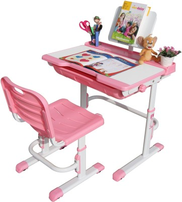 Alex Daisy Universal Metal Study Table(Finish Color - Pink & White)