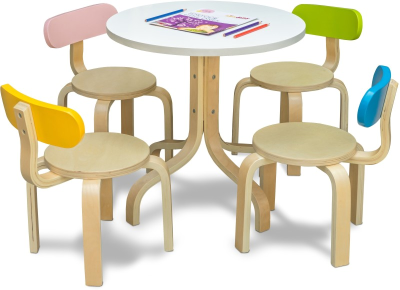 Alex Daisy Tods Solid Wood Activity Table(Finish Color - Natural Wood)