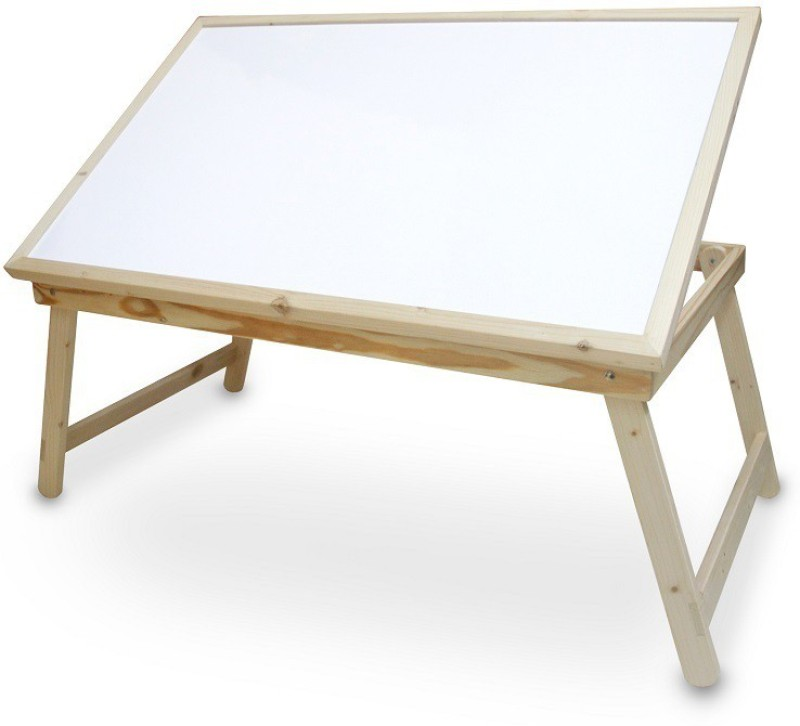 Skys&Ray table top with white marker board Solid Wood Study Table(Finish Color - Walnut Brown)