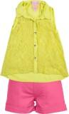 Addyvero Girls Casual Shirt Shorts (Yell...