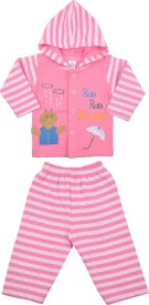 Kandy Floss Boys & Girls Casual Top Pant(Pink)